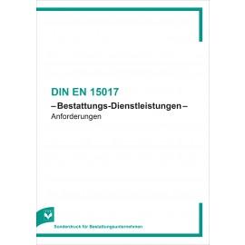 DIN EN 15017 - Bestattungs-Dienstleistungen - Anforderungen